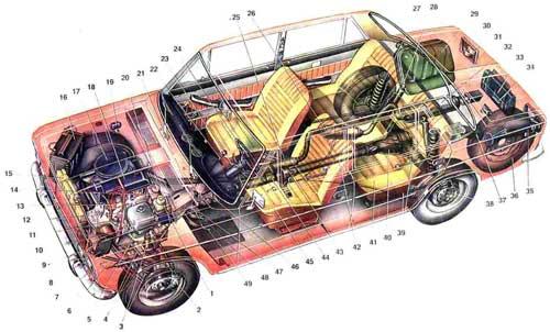 схема электрических соединений ваз 21214